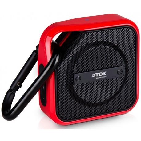 TDK Altavoz A-12 Bluetooth Rojo