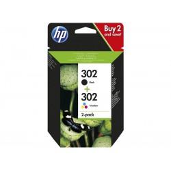 Pack Ahorro HP Nº302 Negro/Tricolor