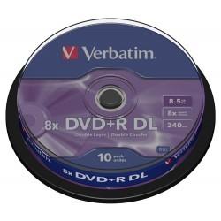Verbatim DVD+R DL Doble Capa 8x 8.5GB Bobina 10 Unds