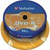 Verbatim DVD-R 16x 4.7 GB Bobina 25 Unds