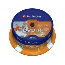 Verbatim DVD-R Printable 16x 4.7GB Bobina 25 Unds