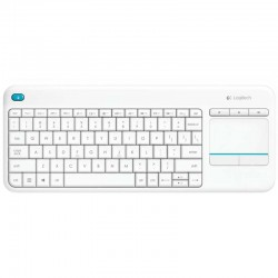 Logitech Wireless Touch Keyboard K400 Plus Blanco