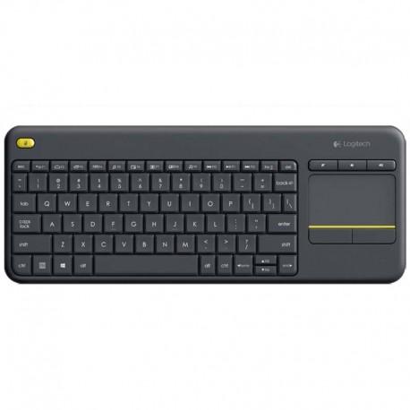 Logitech Wireless Touch Keyboard K400 Plus Negro