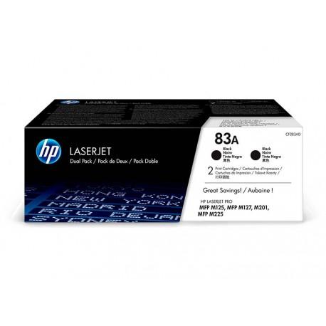 Pack Ahorro HP CF283A Nº83A Negro x2