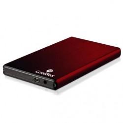 """CoolBox 2520 Carcasa HDD 2.5"""" SATA Rojo"""