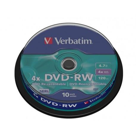 Verbatim DVD-RW ReWritable 4x 4.7GB Bobina 10 Unds