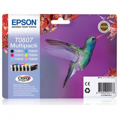 Epson T0807 Multipack 6 Colores