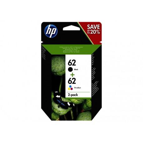 Pack Ahorro HP Nº62 Negro/Tricolor