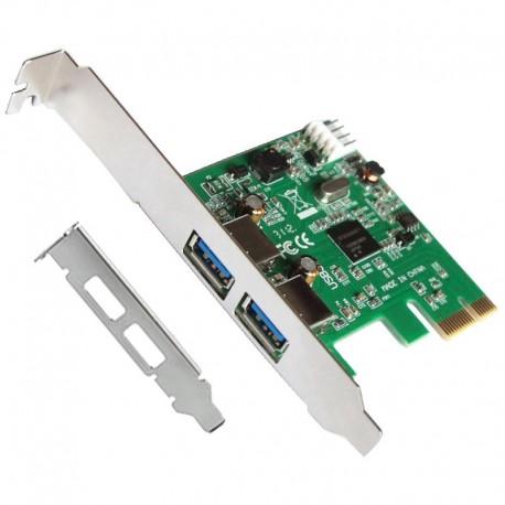 L-Link Tarjeta PCI Express USB 3.0 + Adaptador Perfil Bajo