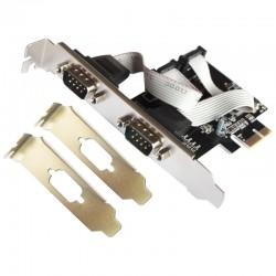 L-Link Tarjeta PCI Express Serie + Adaptador Perfil Bajo