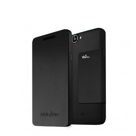 Wiko Rainbow Folio Stand Back Cover Negro