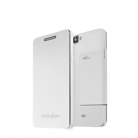 Wiko Rainbow Folio Stand Back Cover Blanco