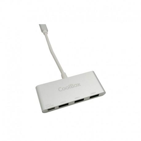 CoolBox Hub USB-C a 3 Puertos USB 3.0 + PD