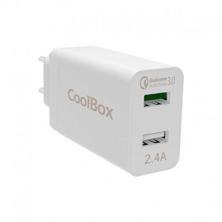 CoolBox Cargador USB de Pared con QC3.0