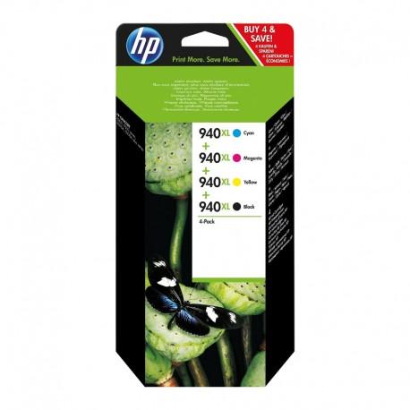 Pack Ahorro HP Nº940 XL Negro/Cian/Magenta/Amarillo