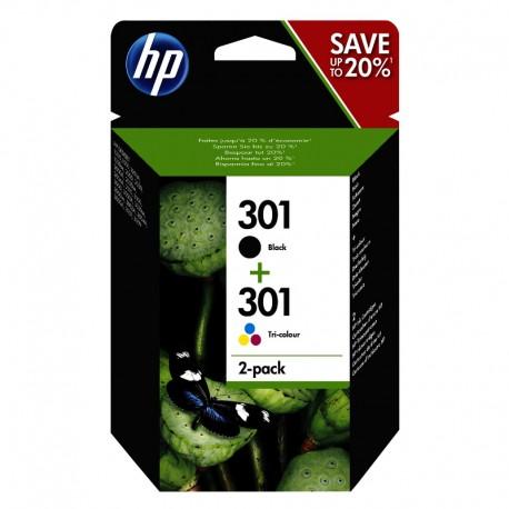 Pack Ahorro HP Nº301 Negro/Tricolor
