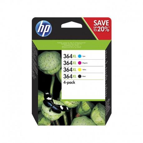 Pack Ahorro HP Nº364 XL Negro/Cian/Magenta/Amarillo