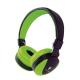 Talius Auriculares HPH-5005 con micrófono verde