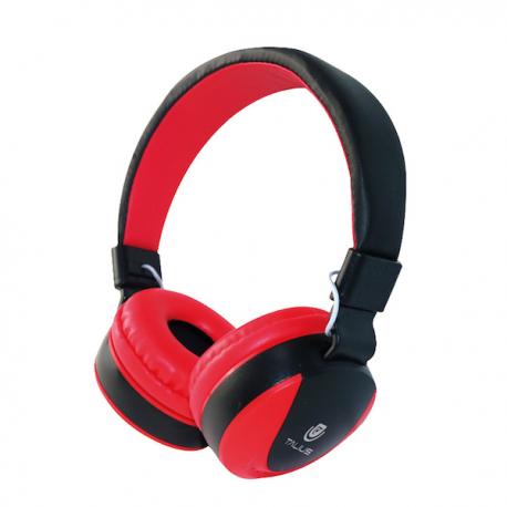 Talius Auriculares HPH-5005 con micrófono rojo