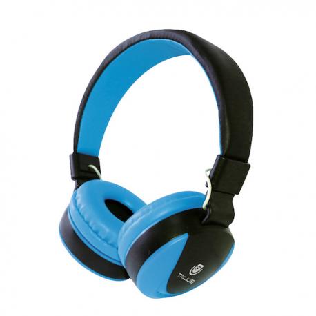 Talius Auriculares HPH-5005 con micrófono azul