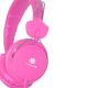 Talius Auriculares HPH-5002 con micrófono rosa