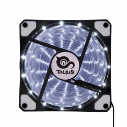 Talius Ventilador Caja FAN-03 15 LEDs Blanco