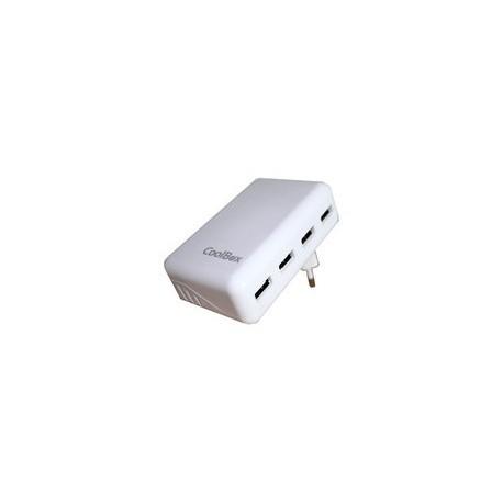 Coolbox Cargador USB de 4 puertos