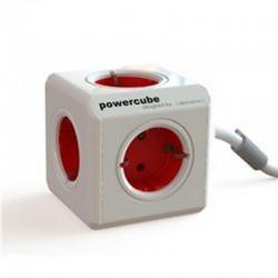 PowerCube 4 Tomas + Cable 1.5M Rojo