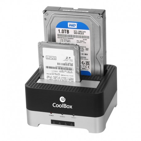 "CoolBox Docking Station/Clonador HD 2.5""/3.5"" USB 3.0"