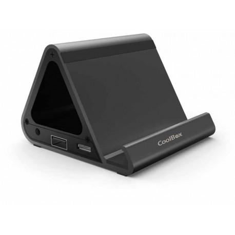 Base de Carga Para Tablets y Smartphone Coolbox HUB USB 3.0