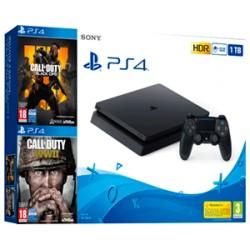 Sony PS4 PlayStation 4 Slim 1TB Edición Limitada + Call Of Duty 4 + Call Of Duty WWII + Spiderman