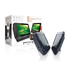 Reproductor de DVD Portable de 7 Pulgadas con Doble Pantalla