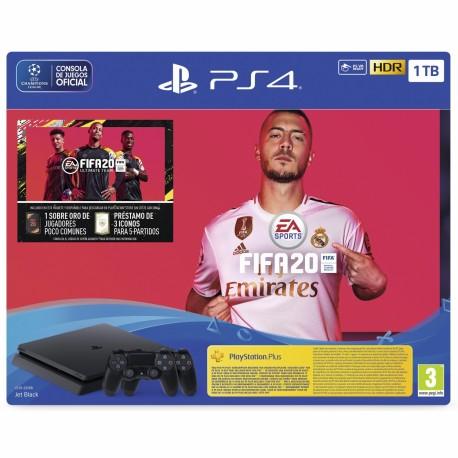 PS4 SLIM 1TB + Dos Mandos + FIFA 2020 + COD BLACK OPS 4