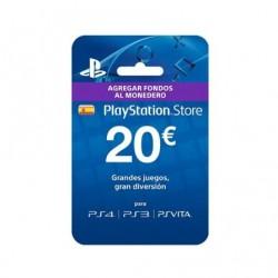 TARJETA SONY PREPAGO 20 EUROS COMPATIBLE CON PS4 - PS3 - PSVITA