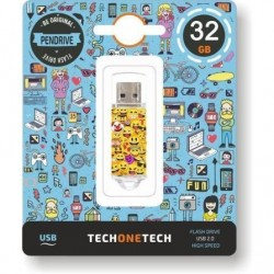PENDRIVE TECH ONE TECH EMOJIS 32GB - USB 2.0