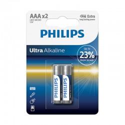PILA PHILIPS ULTRA ALKALINE AAA LR03 BLISTER DE 2 UNID