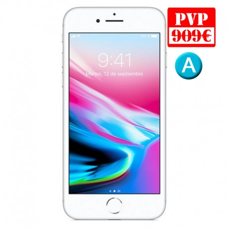IPHONE 8 64GB SILVER RENEW (ca. generica carga+cable)
