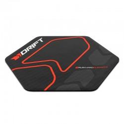 Alfombra Drift Floorpad negra-roja para silla gaming