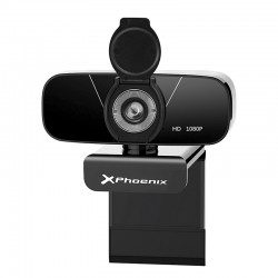 Webcam Camara Web Usb Phoenix Golive Full Hd 1920x1080 30fps Enfoque Manual Rotativa 360º