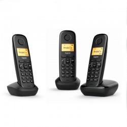 Siemens Gigaset A170 Trio Teléfono Inalámbrico Negro