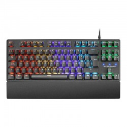 Teclado mecánico gaming Mars Gaming MKXTKL RGB Switch Azul
