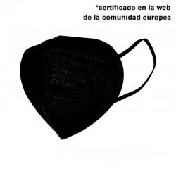 Mascarilla de protección FFP2 NEGRA 5 CAPAS