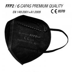 Mascarilla de protección FFP2 Calidad Premium 6 CAPAS Negra