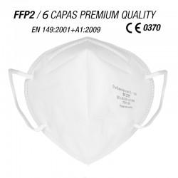Mascarilla de protección FP2 Calidad Premium 6 CAPAS Blanca