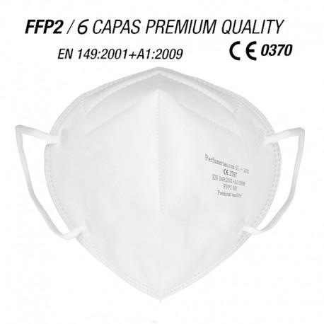 Mascarilla de protección FFP2 Calidad Premium 6 CAPAS Blanca