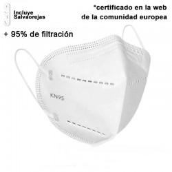 Mascarilla de protección FP2 QUALITY PREMIUM 5 CAPAS + Salva Orejas