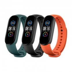 Pulsera para Xiaomi MI Smart Band 5 (3 PACK) BLACK/ORANGE/GREEN