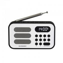 Radio digital portátil con reloj HANDY mini blanco SCHNEIDER