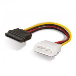 Cable Alimentación SATA Aisens A131-0158 / Molex 4 PIN Macho - SATA Hembra / 16cm