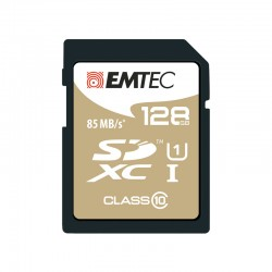 Tarjeta de memoria microSD EMTEC 128GB Elite Gold Clase 10
